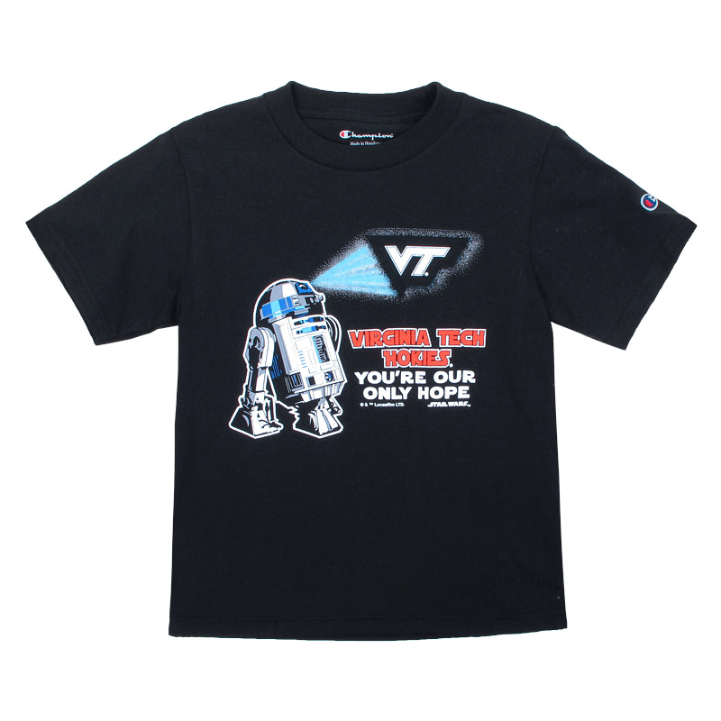 d2 virginia tech virginia tech star wars r2 d2 youth tee