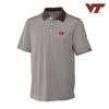 Virginia Tech Stripe DryTec Polo by Cutter & Buck