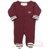 Virginia Tech Stripe Footed Infant Creeper