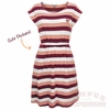 Virginia Tech Striped Cinch Waist Sun Dress