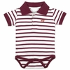 Virginia Tech Striped Polo Baby Romper