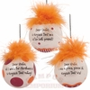 Virginia Tech Team Sayings Ornament Set