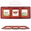 Virginia Tech Three Section Platter
