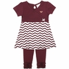 Virginia Tech Toddler Chevron Dress & Leggings Set