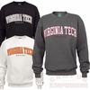 Virginia Tech Twill Applique Crew: Choose your color