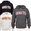 Virginia Tech Twill Applique Hoodie: Choose your color
