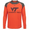 Virginia Tech Under Armour LS HeatGear Performance Top