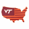 Virginia Tech United States Silhouette Decal