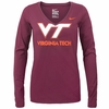 Virginia Tech Women's Mid-V Long Sleeve Tee