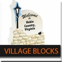 Virginia Tech Wooden Village Blocks
