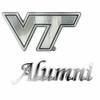 Virginia Tech Alumni Chrome Car Emblem Set