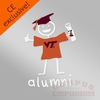 VT Alumni Stick Figure Decal