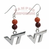 VT Beaded Dangle Earrings