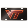 Virginia Tech Black Laser License Plate