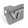 VT Brushed Chrome Hitch Receiver Cover