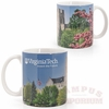 VT Burruss Hall Panoramic Mug