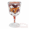 VT Chevron Acrylic Goblet with Beads