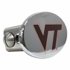 Virginia Tech Maroon and Chrome Hitch Cover