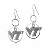 Virginia Tech Dangle Hoop Earrings