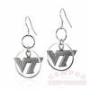 VT Dangle Hoop Earrings