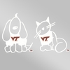 VT Family Decal -Dog and Cat
