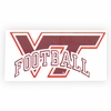 VT Football Decal