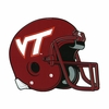 VT Football Helmet Decal