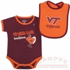 VT Hokies Baby Bib and Bodysuit Set
