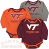 VT Hokies Triple Play Baby Bodysuit 3pk