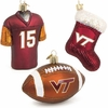VT Jersey, Football, and Stocking Ornament Set