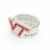 Virginia Tech Logo Rhinestone Ring