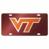 Virginia Tech Maroon Laser License Plate
