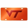 VT Orange and Maroon Laser License Plate