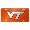 Virginia Tech Orange Laser License Plate