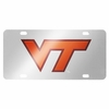 Virginia Tech Silver Laser License Plate
