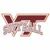 VT Softball Decal