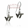 VT Sterling Silver Dangle Earrings