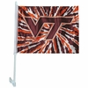 Virginia Tech Tie Dye Car Flag