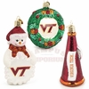 VT Wreath, Snowman, and Megaphone Ornament Set