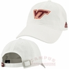 White Virginia Tech Slouch Adjustable Cotton Hat by Adidas
