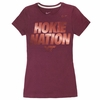 Women's Maroon Reflective Virginia Tech Hokie Nation Nike Shirt