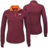 Women's Virginia Tech 1/4 Zip Long Sleeved Active Shirt