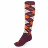 Women's Virginia Tech Argyle Socks