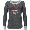 Women's Virginia Tech Distressed Boat-Neck Terry Pullover