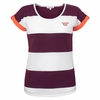 Women's Virginia Tech Plus Size Striped Short Sleeve Top