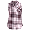 Women's Virginia Tech Sleeveless Plaid Button Up