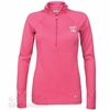 Women's Virginia Tech Under Armour 1/2 Zip Pink HeatGear Top