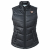 Womens Black Virginia Tech Weathertec Quilted Vest by Cutter & Buck
