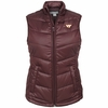 Womens Maroon Virginia Tech Weathertec Quilted Vest by Cutter & Buck