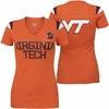 Womens Nike Virginia Tech Hokies Fan Orange V-neck